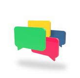 Four chat boxes Royalty Free Stock Image
