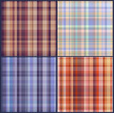 Four checkered seamless texture. Retro royalty free illustration