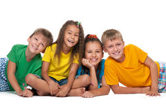 Four cheerful children Royalty Free Stock Image