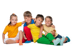 Four cheerful kids Stock Photo