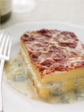Four Cheese Baked Polenta Stock Photography