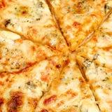 Four cheese pizza Stock Photos