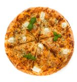 Four cheese pizza Stock Images