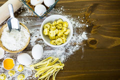 Four cheese tortellini Stock Photography