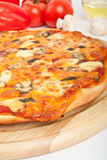 Four cheeses pizza Stock Photography