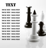 Four chess on white Stock Images