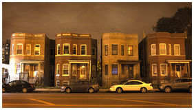 Four Chicago houses Stock Photography