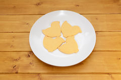 Four chick-shaped Easter cookies Stock Photography