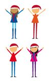 Four childrens vector Royalty Free Stock Photo