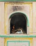 Four chinois pour le papier de brûlure dans le tombeau Image stock