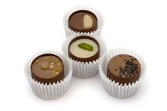 Four chocolate candy Royalty Free Stock Photo