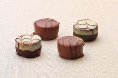Four chocolates Royalty Free Stock Image