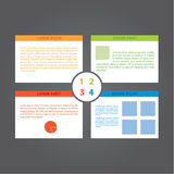 Four choices. Vector colorfully template. Clean template, four c Royalty Free Stock Photos