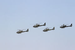 Four choppers Royalty Free Stock Image