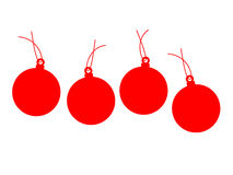 Four Chrismas balls Royalty Free Stock Photography