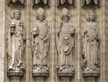 Four christian statues in Antwerpen, Belgium Royalty Free Stock Photography