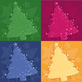 Four Christmas background. With a fur-tree Royalty Free Stock Photo