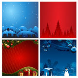 Four Christmas Background vector illustration royalty free stock image
