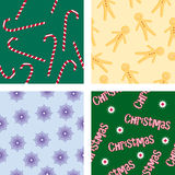 Four Christmas backgrounds Stock Image