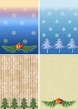 Four christmas backgrounds. For celebratory congratulations. It is a lot of empty seat for your text. Collage Stock Photos