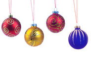 Four christmas ball, isolated Stock Images