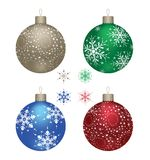 Four christmas balls Stock Images