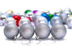 Four Christmas balls 2011 Royalty Free Stock Photography
