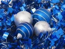 Four christmas balls Royalty Free Stock Image
