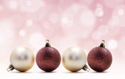 Four christmas balls Royalty Free Stock Photo