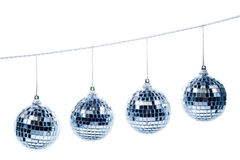 Four christmas balls Stock Photos