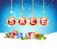 Four christmas balls Royalty Free Stock Photography
