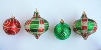 Four Christmas Balls Stock Image