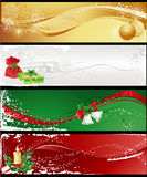 Four christmas banners Royalty Free Stock Images