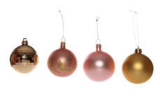 Four christmas baubles cutout Royalty Free Stock Images