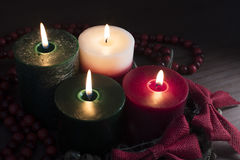 Four Christmas Candles Royalty Free Stock Photo