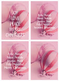 Christmas Card Templates Red x four Royalty Free Stock Photo