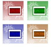 Four christmas cards Stock Images