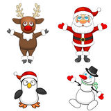 Four Christmas characters Stock Photo