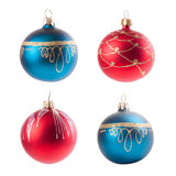 Four christmas decoration ball isolated on white Stock Image