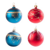 Four christmas decoration ball isolated on white Stock Images