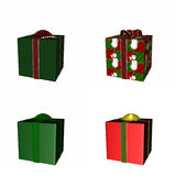 Four Christmas Gifts Royalty Free Stock Image