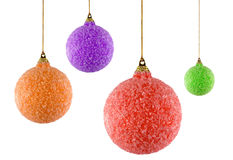 Four christmas ornaments. On white background. FIND MORE christmas ornaments in my portfolio Stock Images