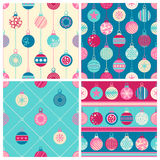 Four Christmas seamless patterns Stock Image