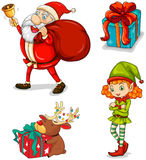 Four christmas symbols Royalty Free Stock Photography