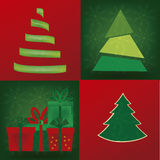 Four christmas tree Royalty Free Stock Photos