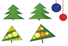 Four Christmas trees Stock Photography
