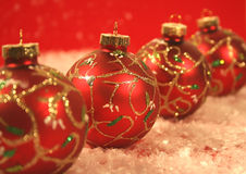 Four chritmas ball . royalty free stock images