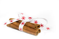 Four cinnamon sticks Royalty Free Stock Images