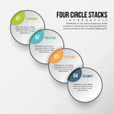 Four Circle Stacks Infographic Stock Photography