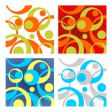 Four circles backgrounds Stock Image